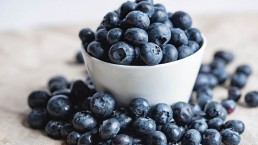 a bowl of blueberrys