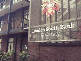 london southbank university sign