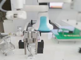 robotic arm in lab