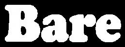 bare pr white logo